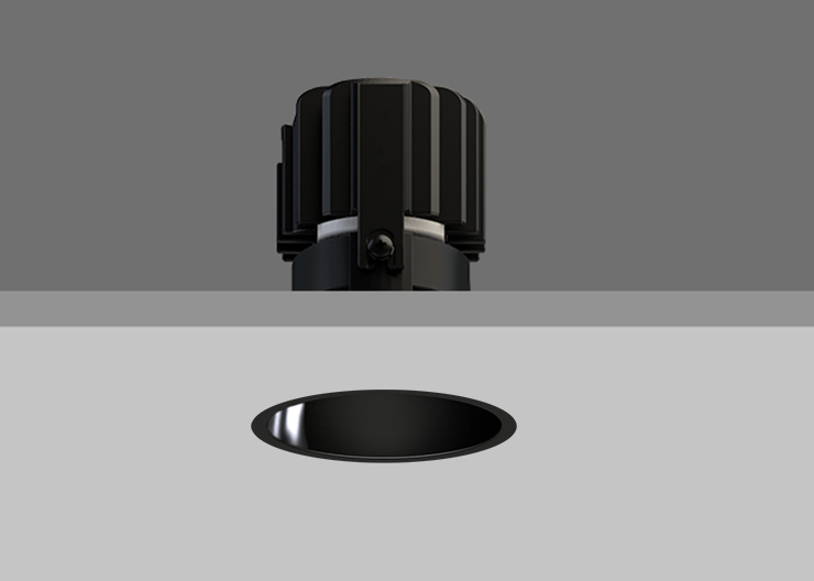 Minitrim 62 Wallwasher Black